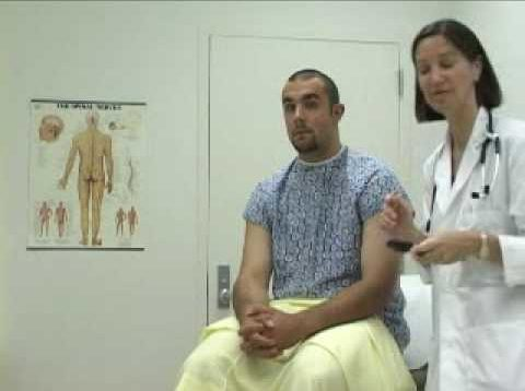 male examination video