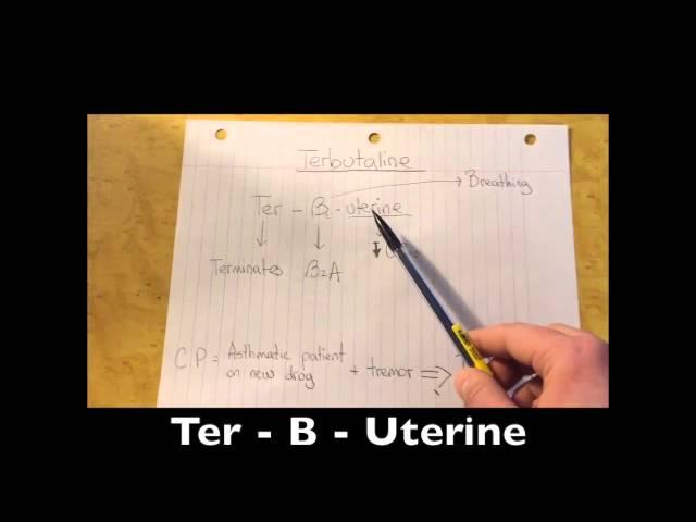 Terbutaline - Pharmacology Mnemonic